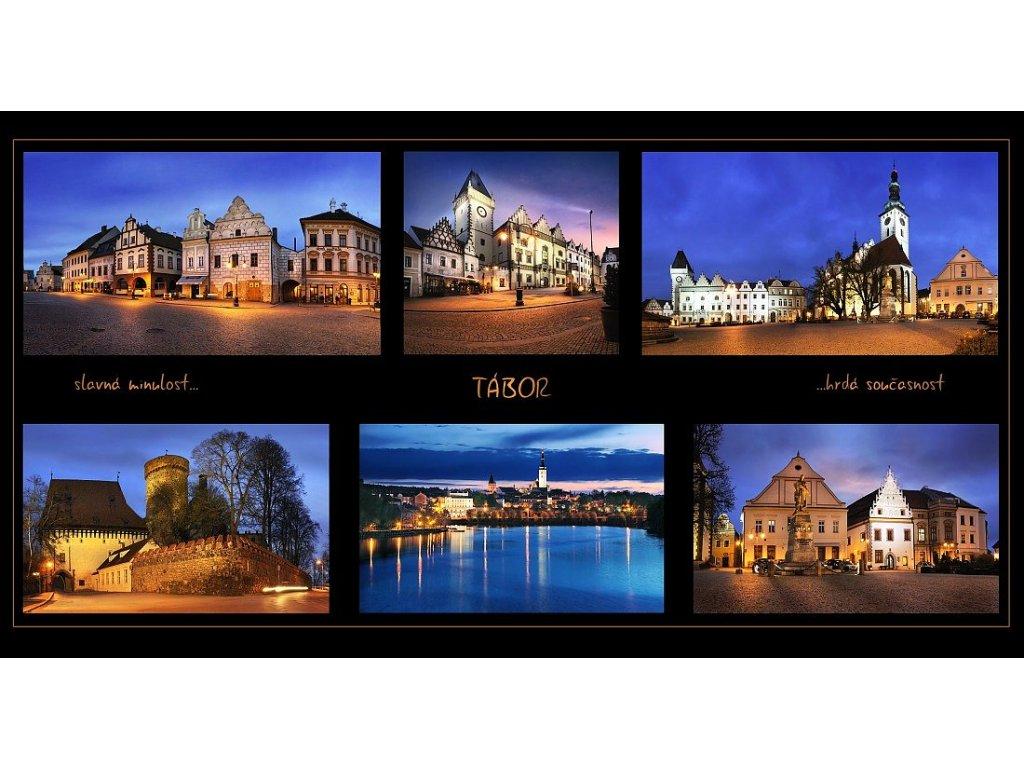 338 2 pohlednice tabor 22 5 x 12 cm