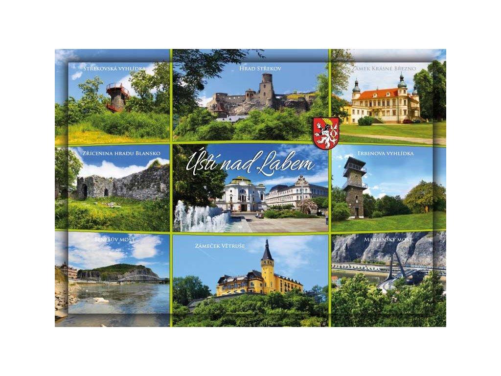 Postcard Usti nad Labem