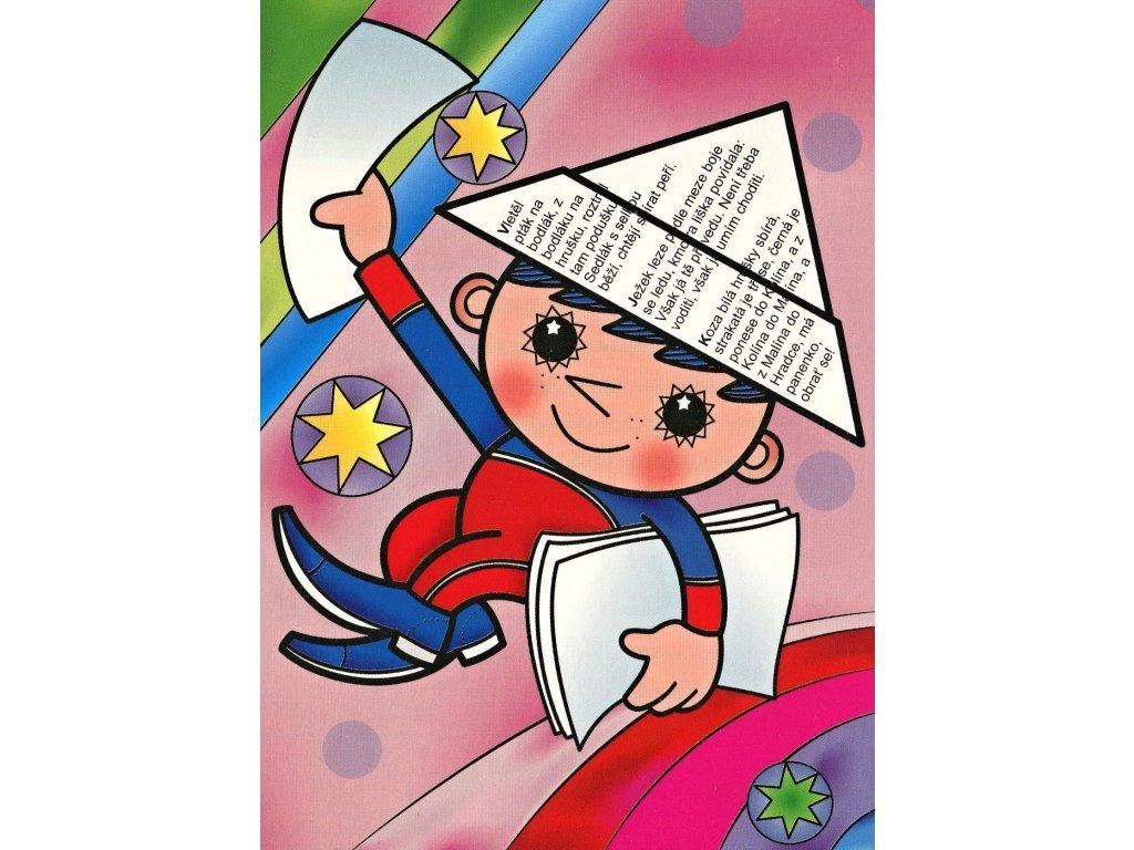 Postcard Večerníček pink