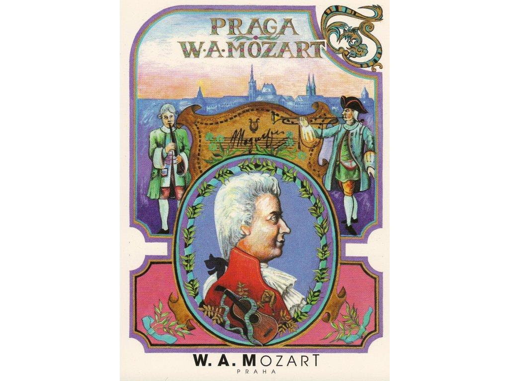6758 2 pohlednice wolfgang amadeus mozart