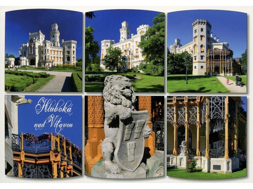 Postcard castle Hluboka nad Vltavou
