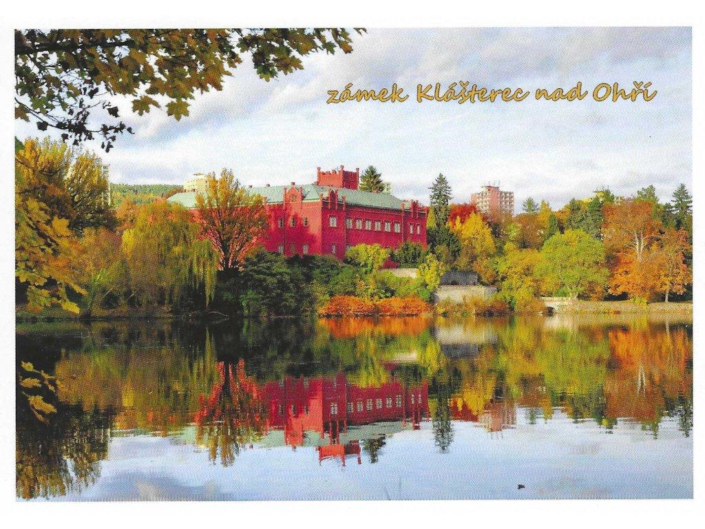 15854 3 pohlednice zamek klasterec nad ohri