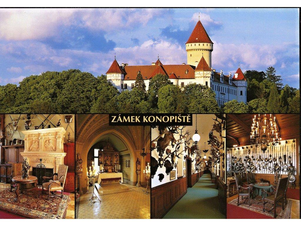 254 pohlednice zamek konopiste