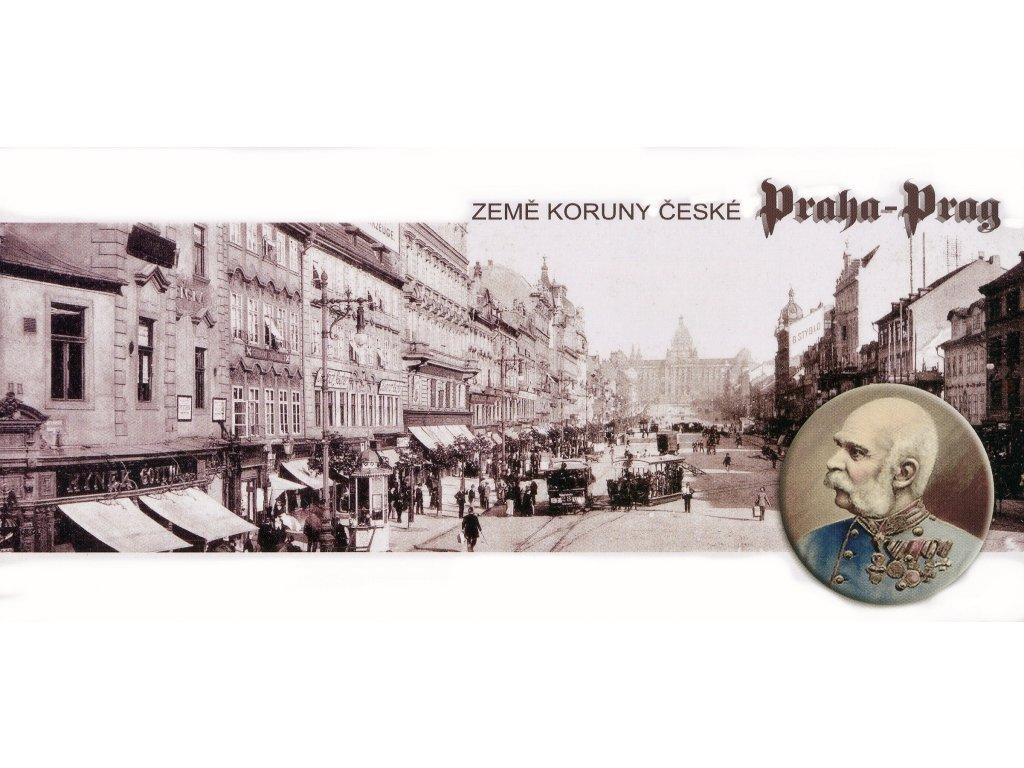 Postcard Prague Czech lands, Wenceslas Square