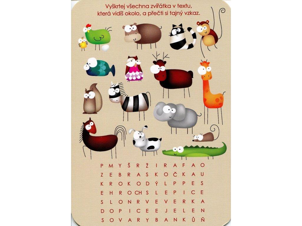 Postcard Czech cross out - Animals