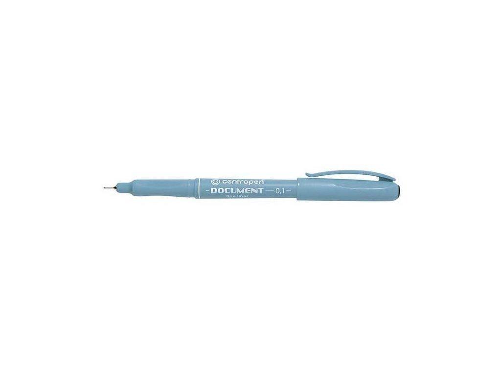 14579 1 popisovac centropen cerny liner 0 1 mm