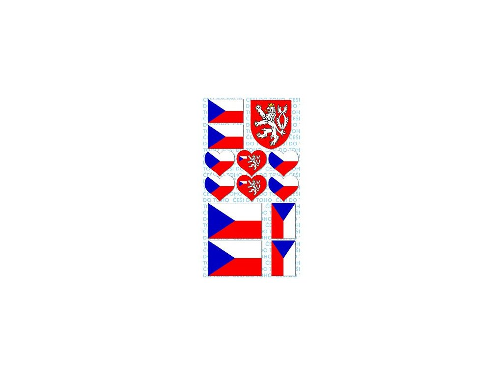 8378 1 samolepky ceska vlajka a znak 8 15 cm 1 arsik