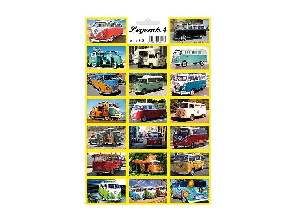 12464 1 samolepky legendy 4 legendarni auta dodavky vw