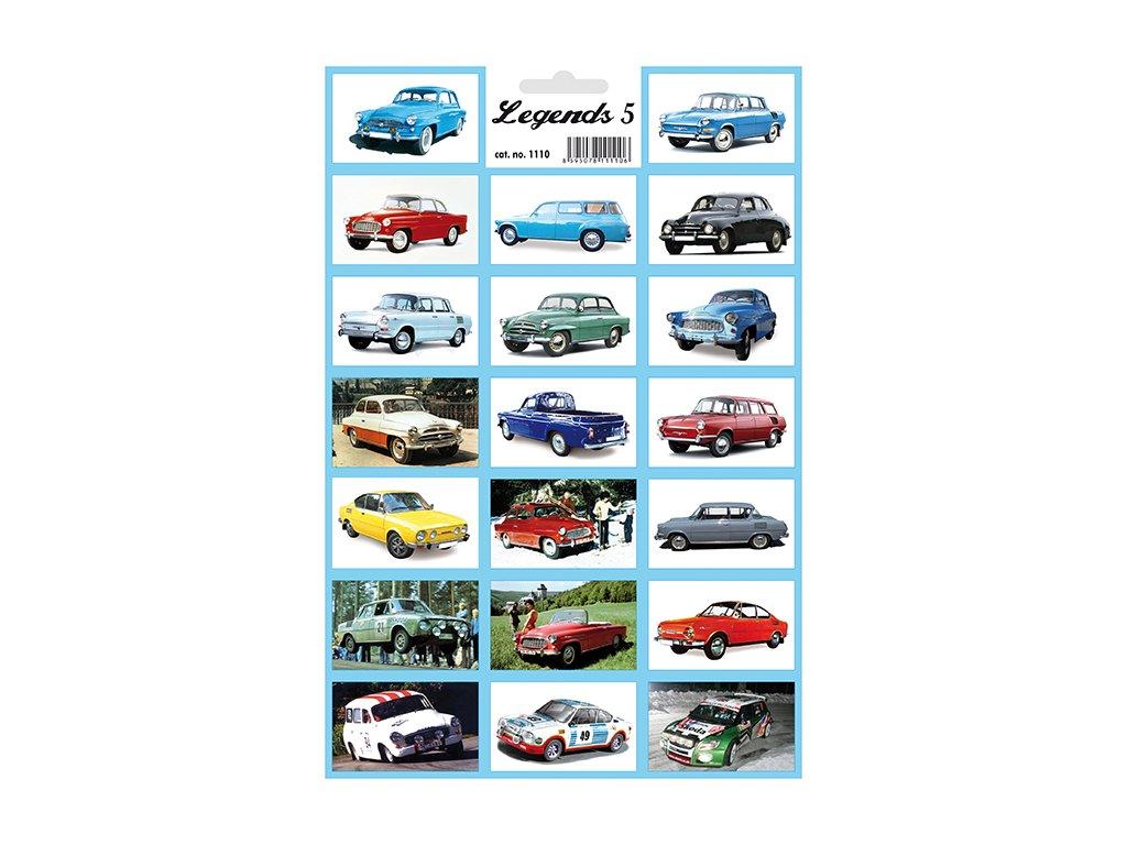 12467 1 samolepky legendy 5 legendarni auta skodovky