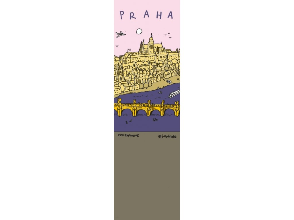 Bookmark Pink Prague