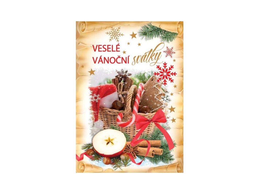 16358 pohlednice vesele vanocni svatky