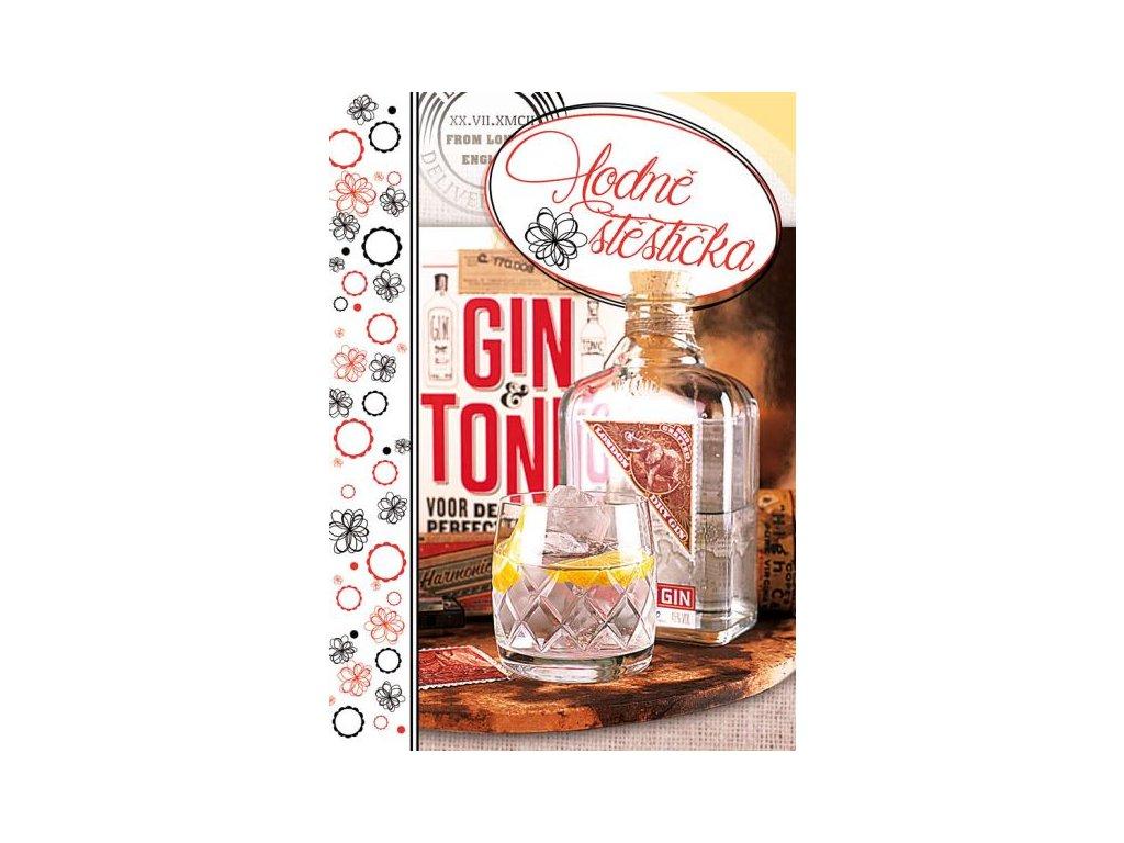 Postcard Good luck, Gin
