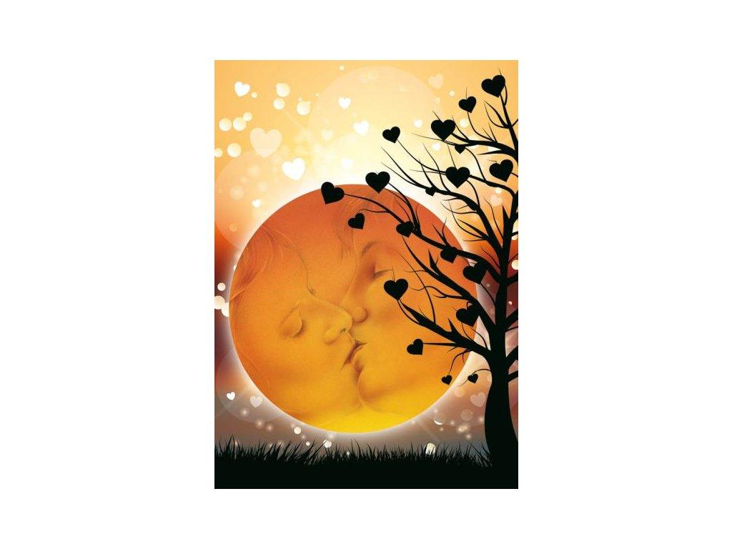 Postcard Romantic Kiss