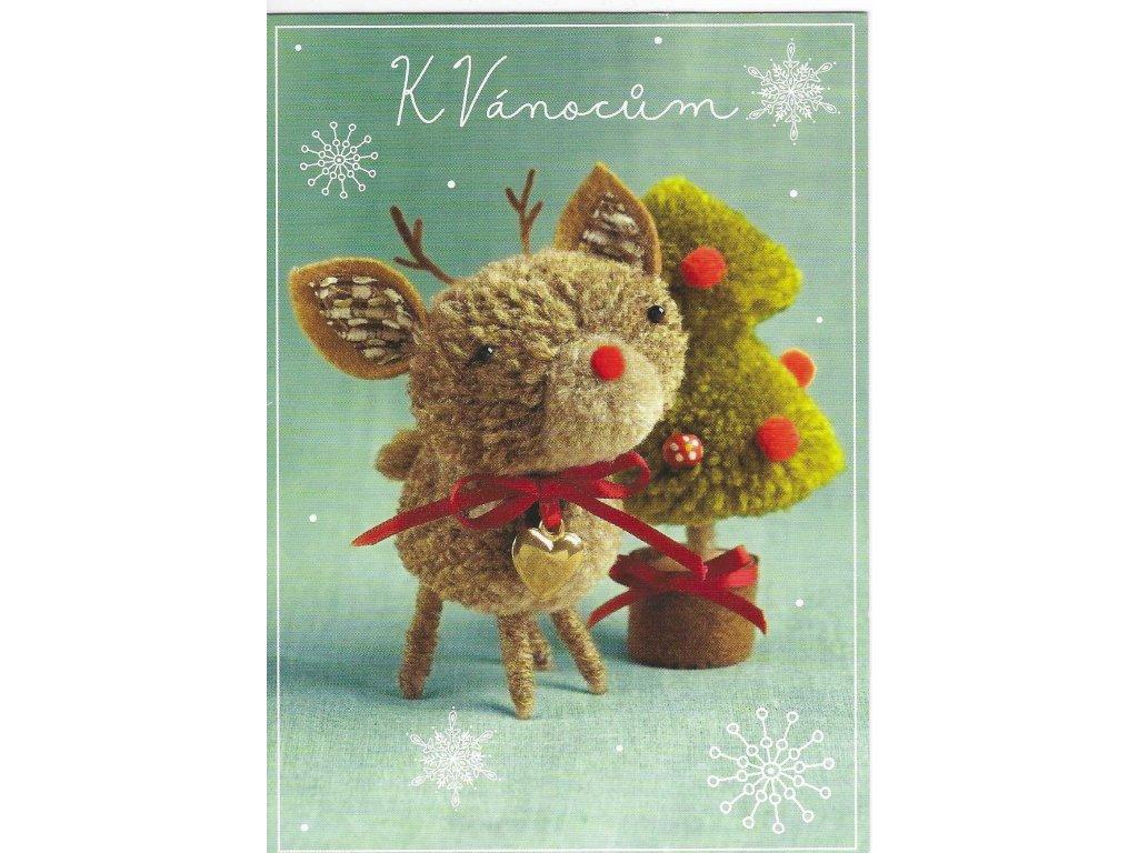 Postcard For Christmas, a plush reindeer