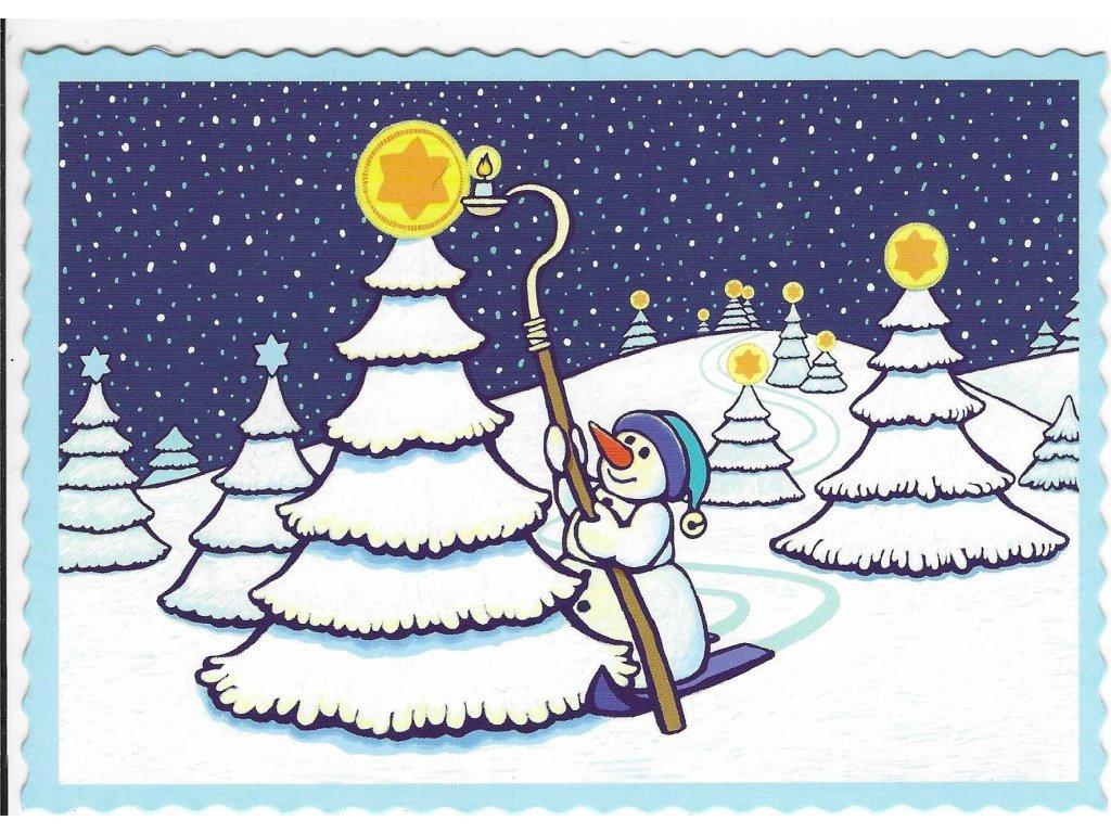 Postcard Snowman 3