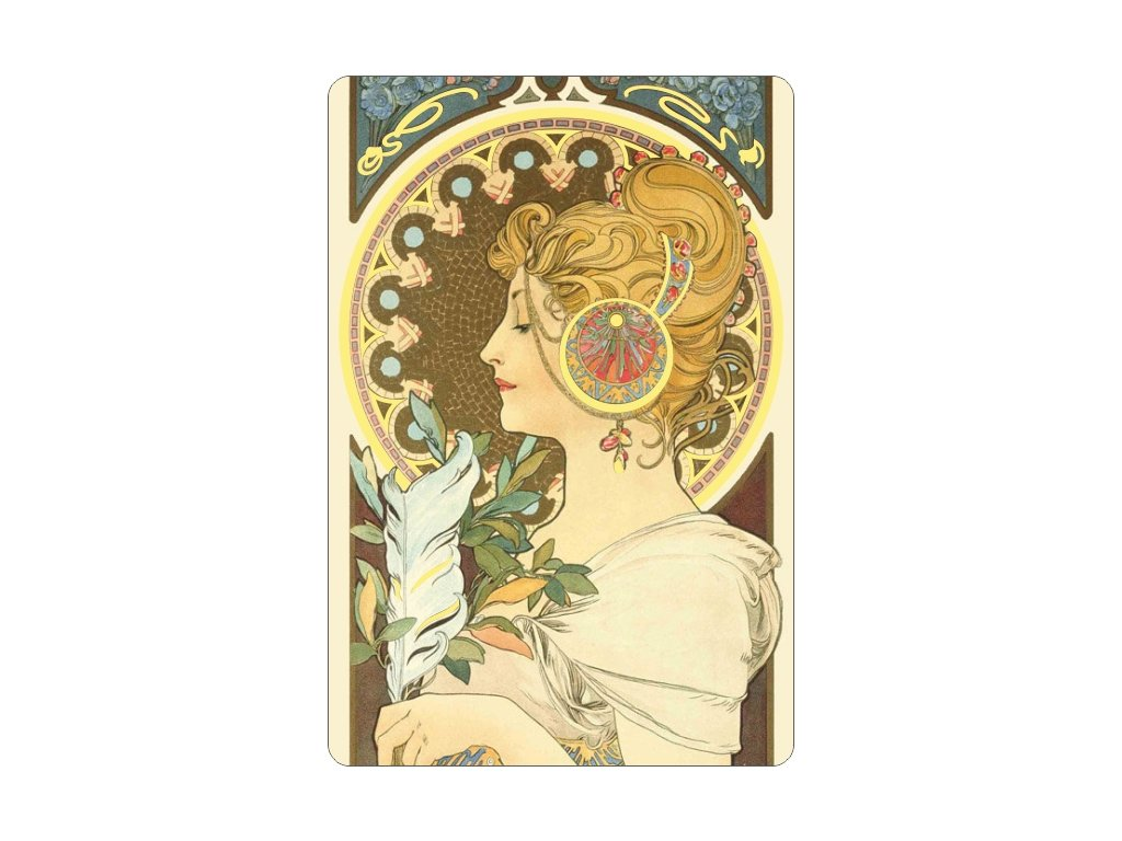 Gilded magnet - A. Mucha - Feather