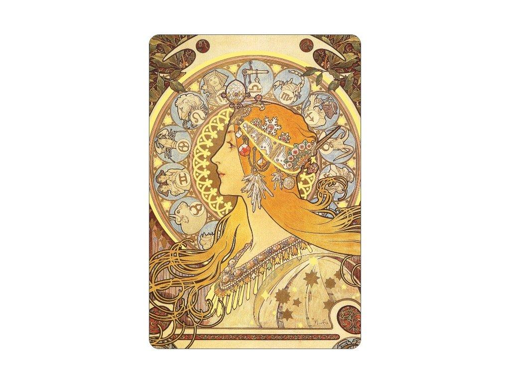 Gilded magnet - A. Mucha - Zodiac