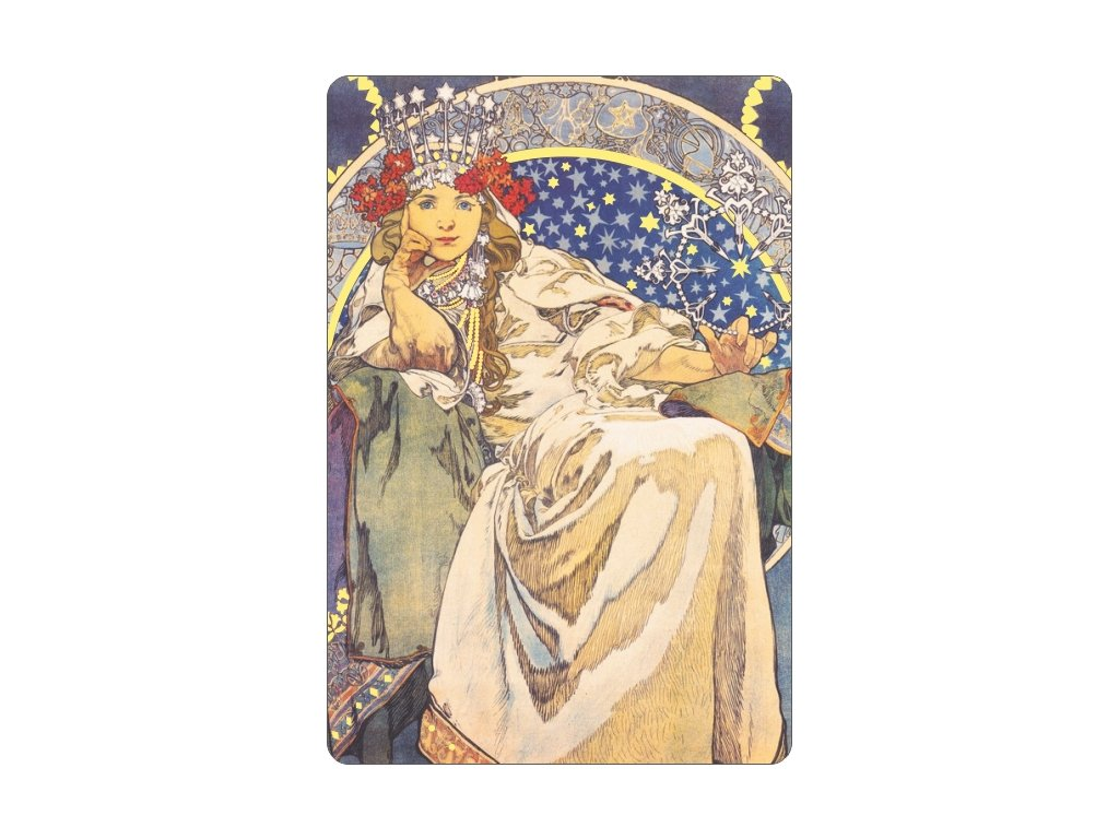 Gilded magnet - A. Mucha - Princess Hyacinth