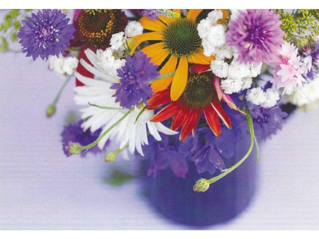 Postcard Colorful bouquet