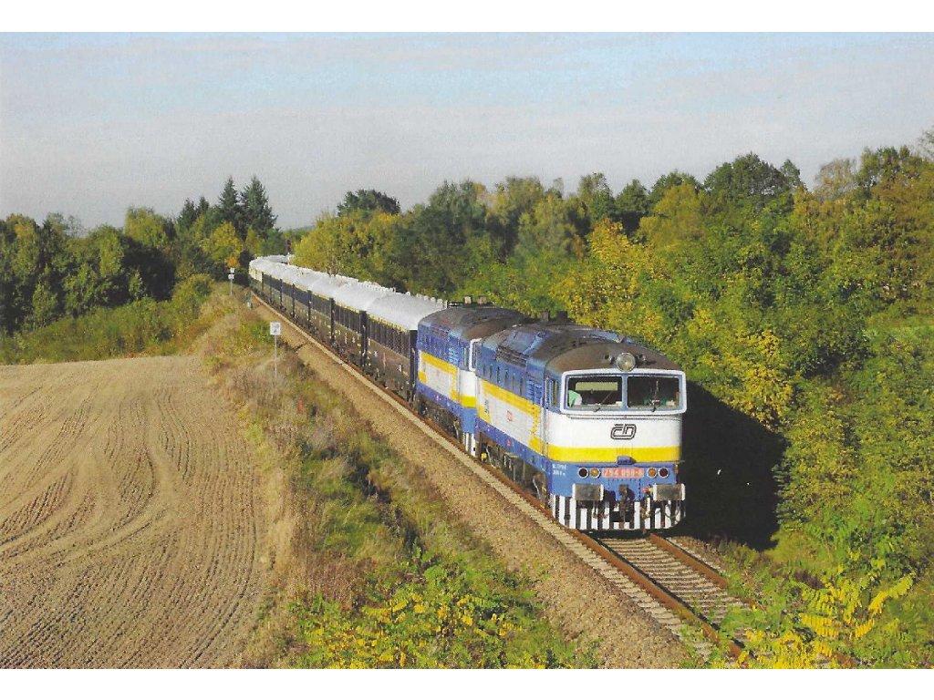 Postcard - Trains - 754 058-6 + 754 057-9