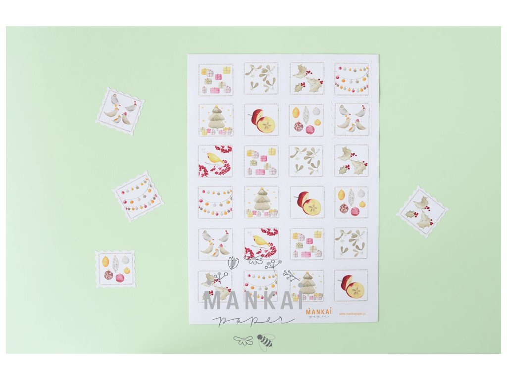Sheet of stickers - Stamps