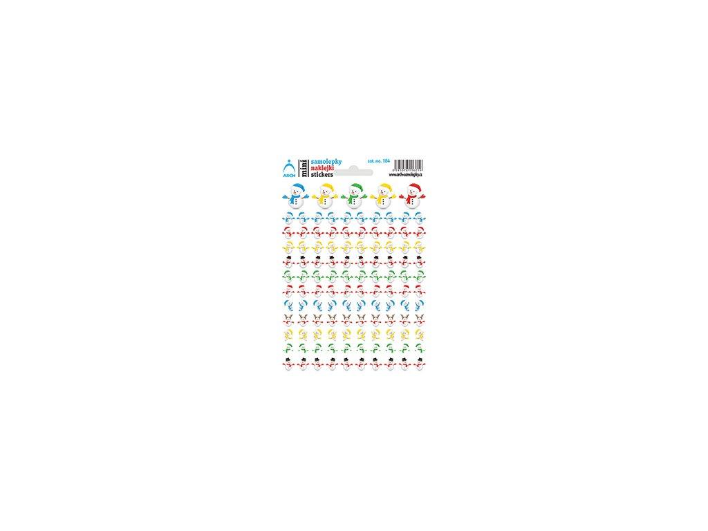 Mini stickers Snowmen 11.5 x 17 cm