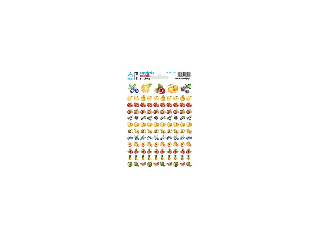 Mini stickers Fruit 1, 11.5 x 17 cm