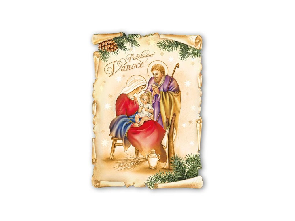 Postcard Blessed Christmas