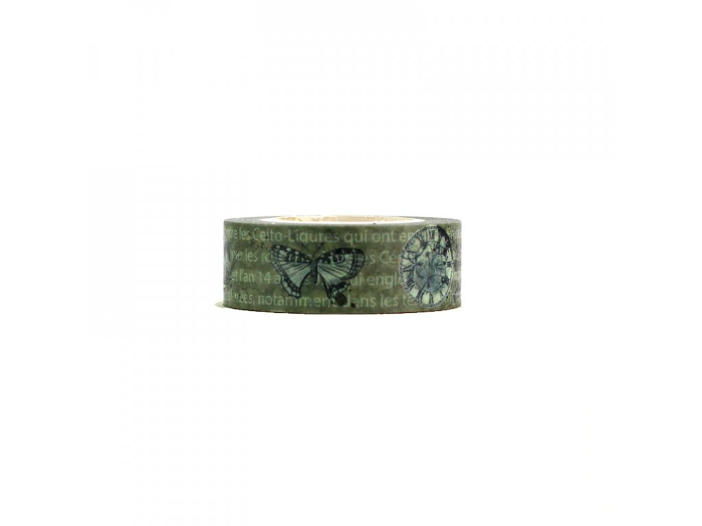 Washi tape Gray butterfly