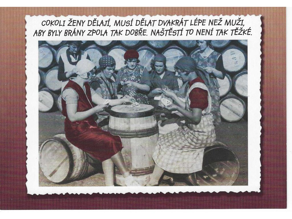 Postcard Whatever women do