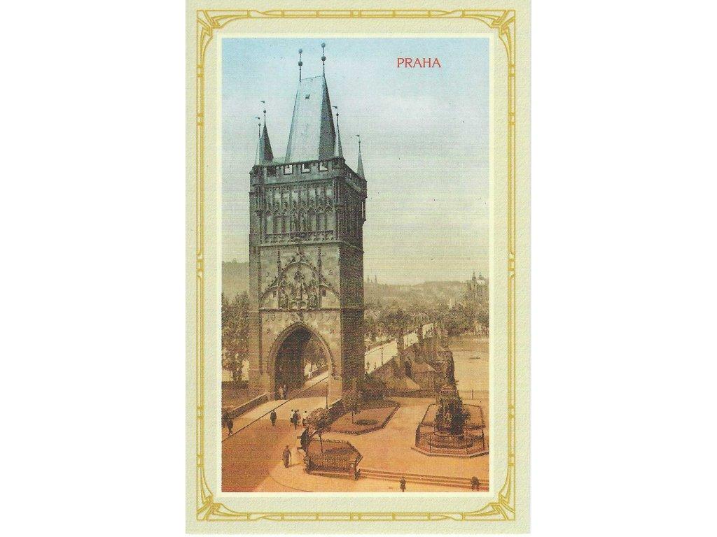 Postcard Prague - Old Town Bridge Tower