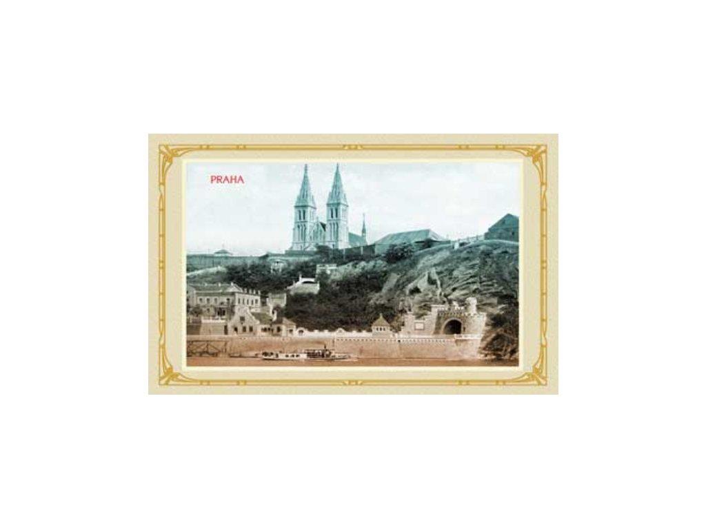 Postcard Prague - Vyšehrad 14x9 cm