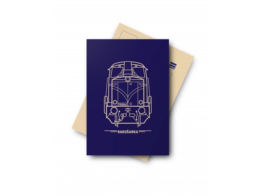 Postcard Locomotive RAKUŠANKA