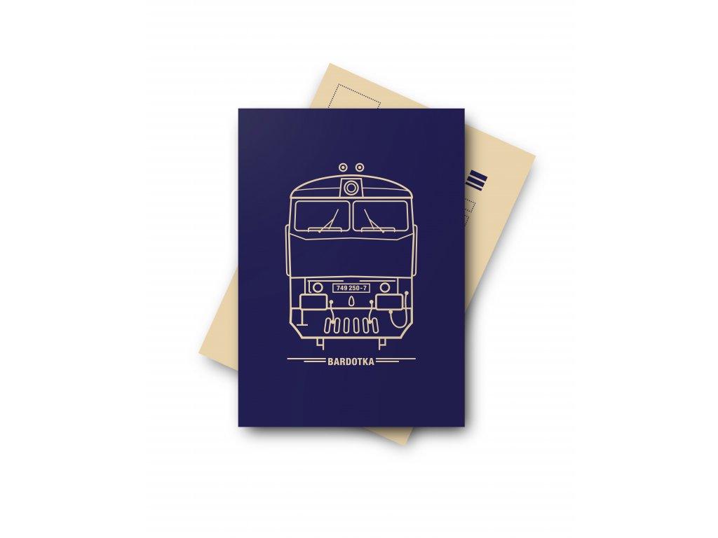 Postcard Locomotive BARDOTKA