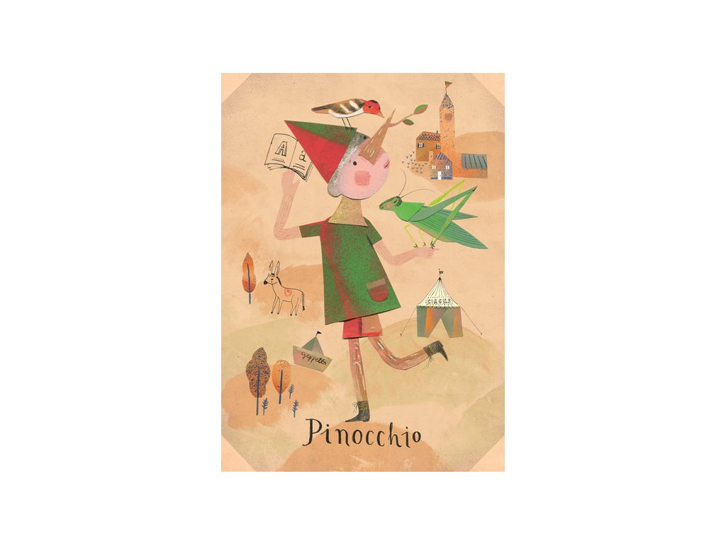 Postcard Pinocchio 17x12 cm