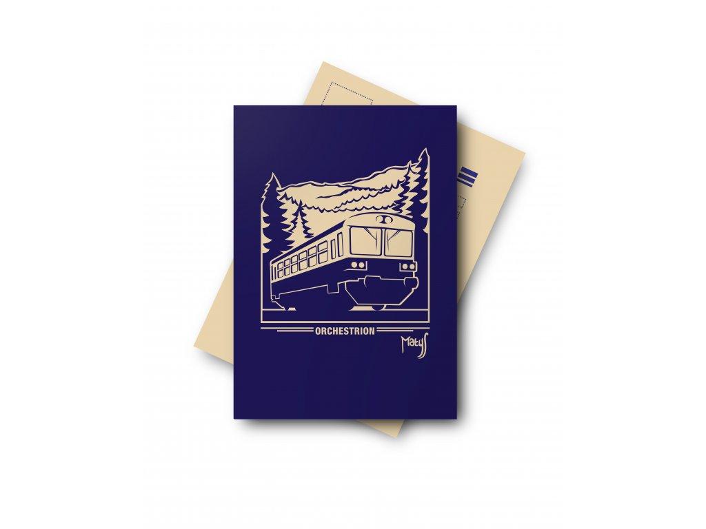 Postcard Motor car ORCHESTRION