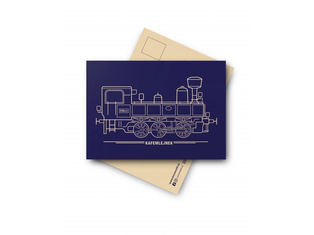 Postcard Locomotive KAFEMLEJNEK