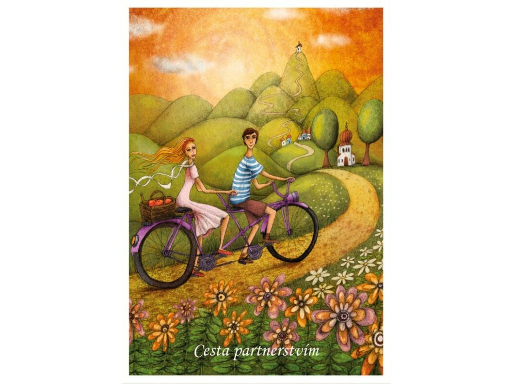 Postcard He and she - The journey of partnership