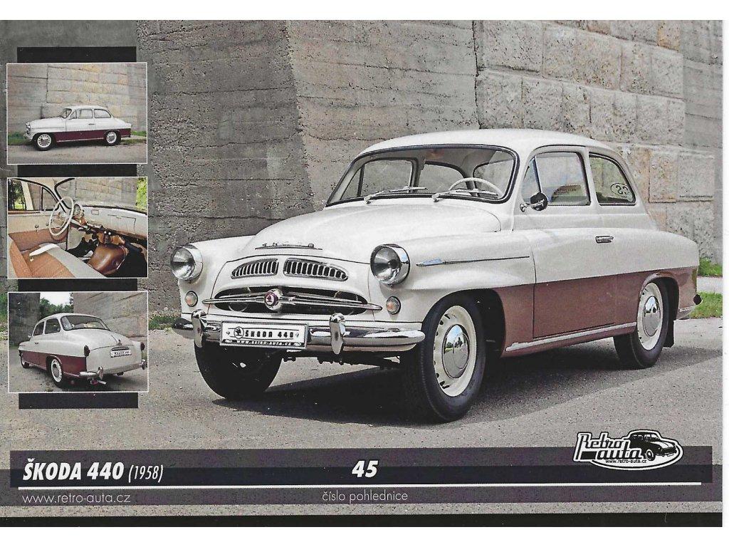 Postcard Škoda 440