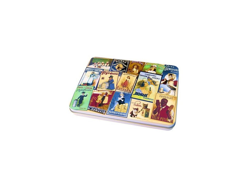 Tin box for stamps and postcards - Zora chocolate