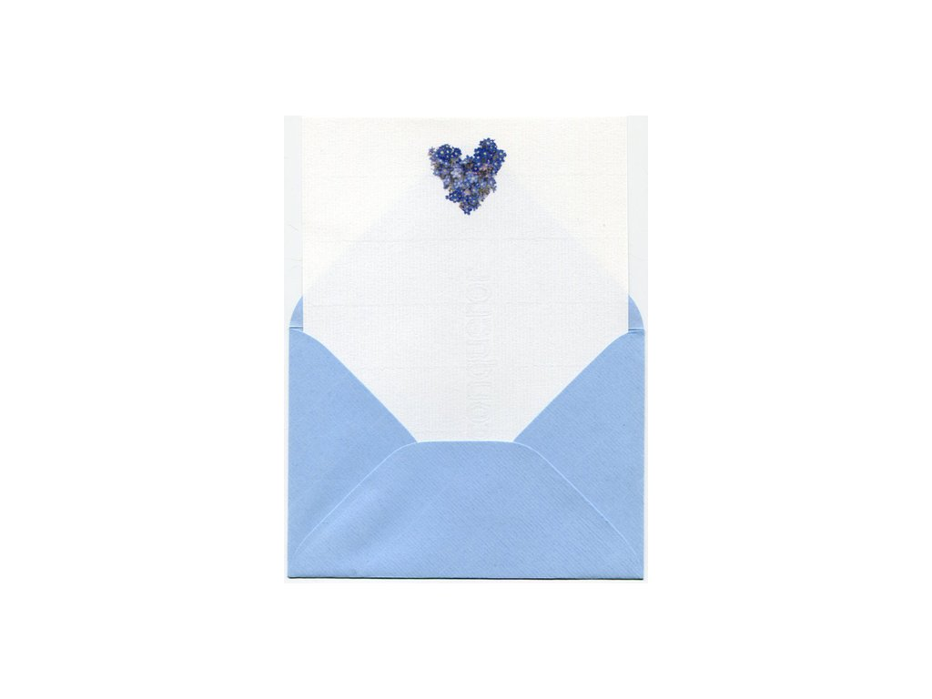Stationery set Forget-me-not heart