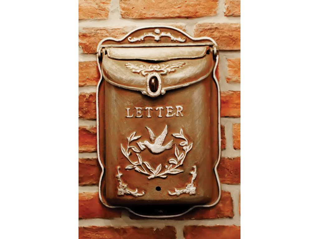Postcard Mailbox with dove