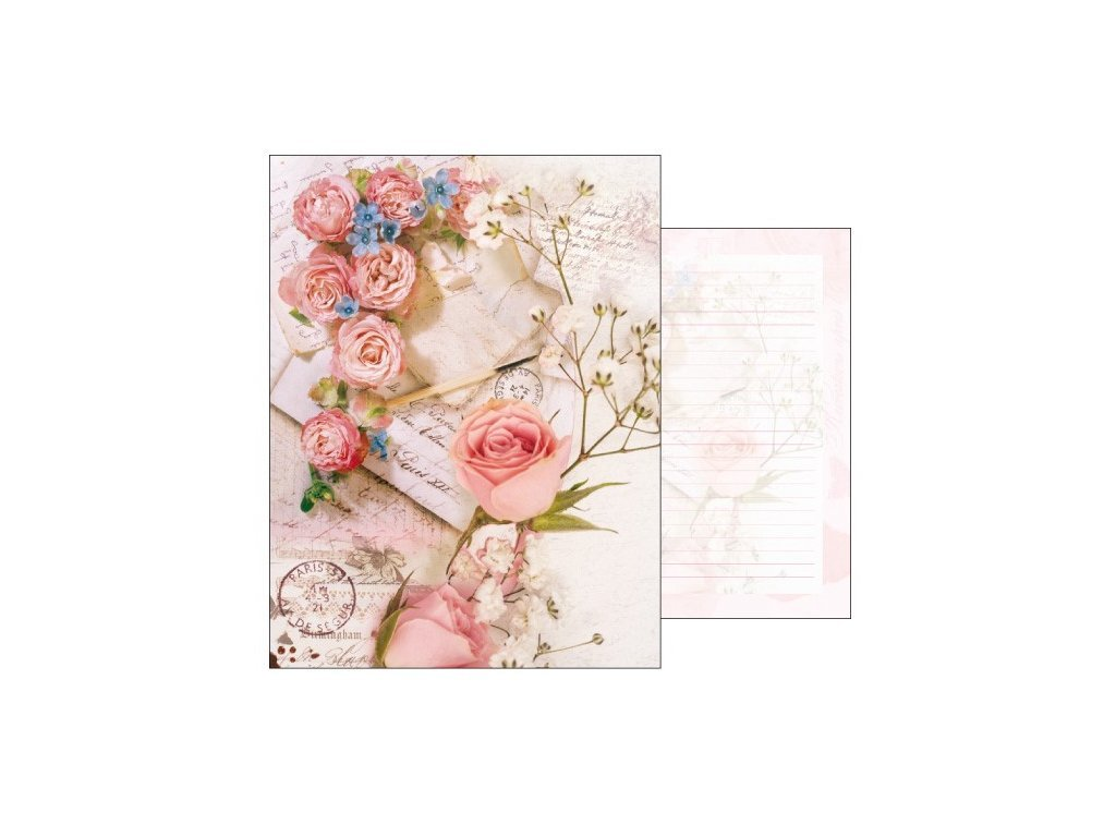 Stationery set Romantic roses