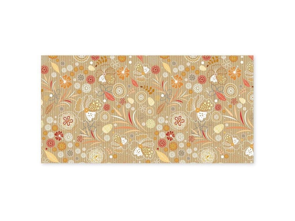 obalka DL oranzovocervene kvety