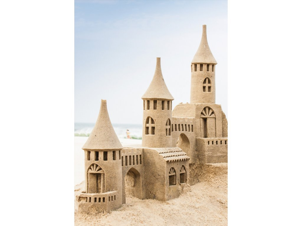 Postcard Sand castle