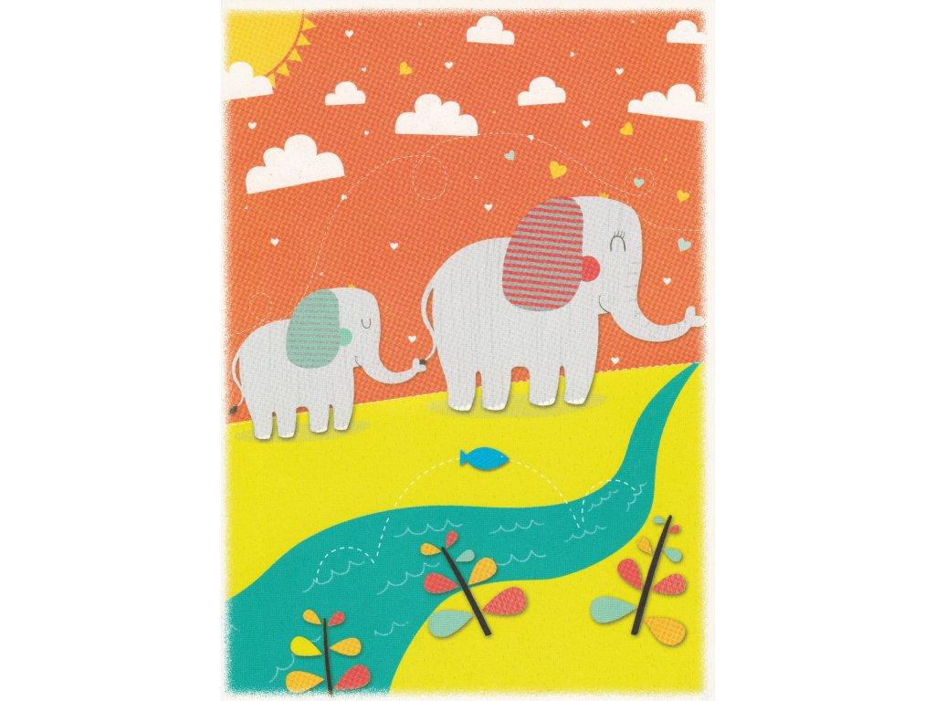 Postcard Elephants