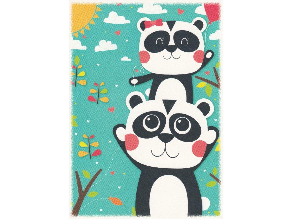 Postcard Pandas