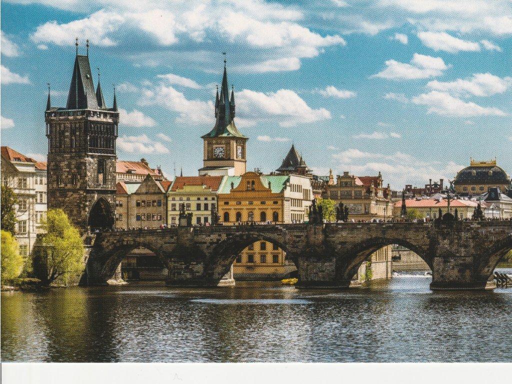 Postcard Prague in color 3