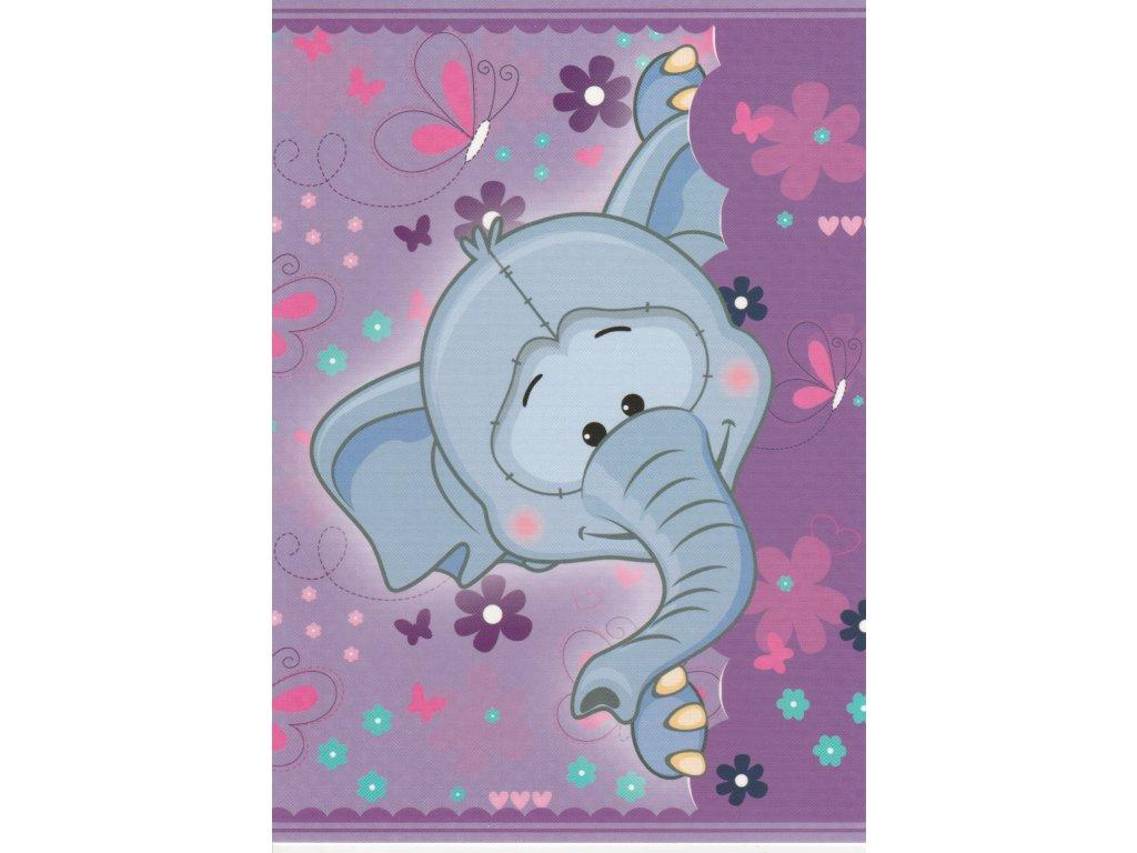 Postcard Purple elephant