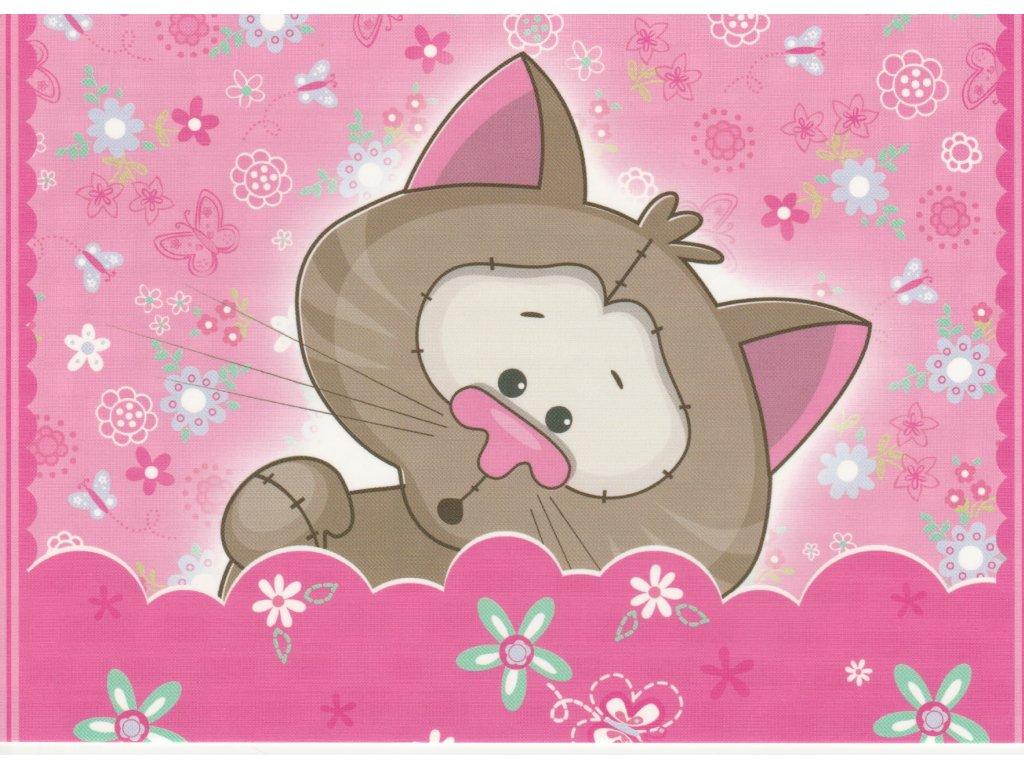 Postcard Pink kitten